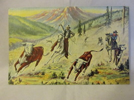 "1939 Art Postcard by Cowboy Artist & Poet, L.H. ""Dude"" Larsen - $9.99"
