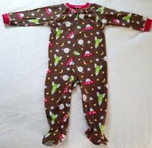 Boy's Fleece One Piece Sleeper~ Size 24 Months~ Brown Color~ Carters - $8.99