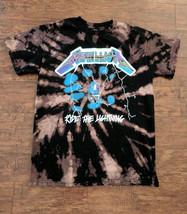 Metallica Ride The Lightening Bleached T Shirt, Acid Wash Tee, Heavy Metal - $15.99