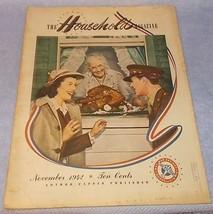 Vintage Ladies The Household Magazine War Issue November 1942 Thanksgiving - $9.95