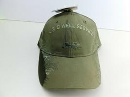L&D Well Service Black Strapback Adjustable Hat Cap Green Buck Scene - £7.69 GBP