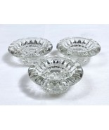 Lot of Three Vintage Heavy Molded Glass Taper Candle Holders - FNG - Ind... - $4.89
