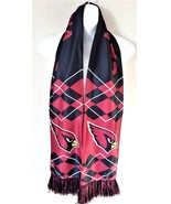 Arizona Cardinals Scarf w/ Fringe Argyle Pattern NFL Football Polyester NEW - $9.70