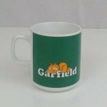 Vintage 1978 Garfield Birthdays Are Like Dogs Green Coffee Cup Enesco Brand - $5.89