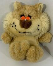 Vintage MTY International Plush Lion Cat Bear orange droopy sleepy eyes ... - $44.54