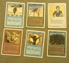 Magic the Gathering 6 card revised 3rd Edition mtg card lot jump wall wo... - $1.97