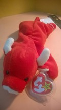 TY Beanie Baby Tabasco the Bull Beanie Baby w/ Tush Tag Spelling Error - $350.00