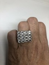 Vintage White Sapphire Ring 925 Sterling Silver Cocktail Size 6 - $138.60