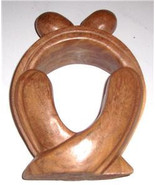 "Original African Hand Carved Sculpture Wood Art Untitled ""The Love Union"" - $98.99"