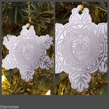 POLICE OFFICER POLICEMAN  CHRISTMAS SNOWFLAKE HOLIDAY ORNAMENT - $18.04