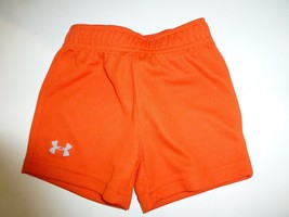 UNDER ARMOUR Little Boys Orange Athletic Sweat Shorts New 9/12 Months - $9.89