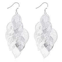 Women's Fashion Leaf Feather Handmade Long Drop Dangle Hook Eardrop Earr... - $9.79