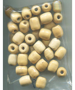 barrel beads wooden beads wood beads macrame beads unpainted beads big b... - $3.99