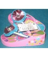 Disney Store Elsa and Anna Platform Flip Flops for Girls Frozen Size 13/... - $18.80