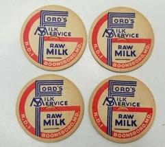 BOONSBORO MD ADVERTISING ~ FORD'S MILK SERVICE ~ MILK BOTTLE CAPS NOS 4  - $9.99