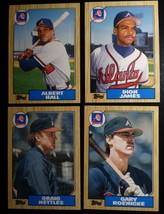 1987 Topps Traded Atlanta Braves Team Set of 4 Baseball Cards - $2.00