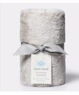Solid Satin Edge Plush Fluffy Soft Blanket Cloud Island Gray Silver Baby... - $49.48