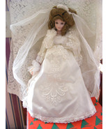 CAMELOT BRIDAL DOLL JOAN IN WHITE SATIN WITH LACE AND VICTORIAN HAIRDO N... - $38.61