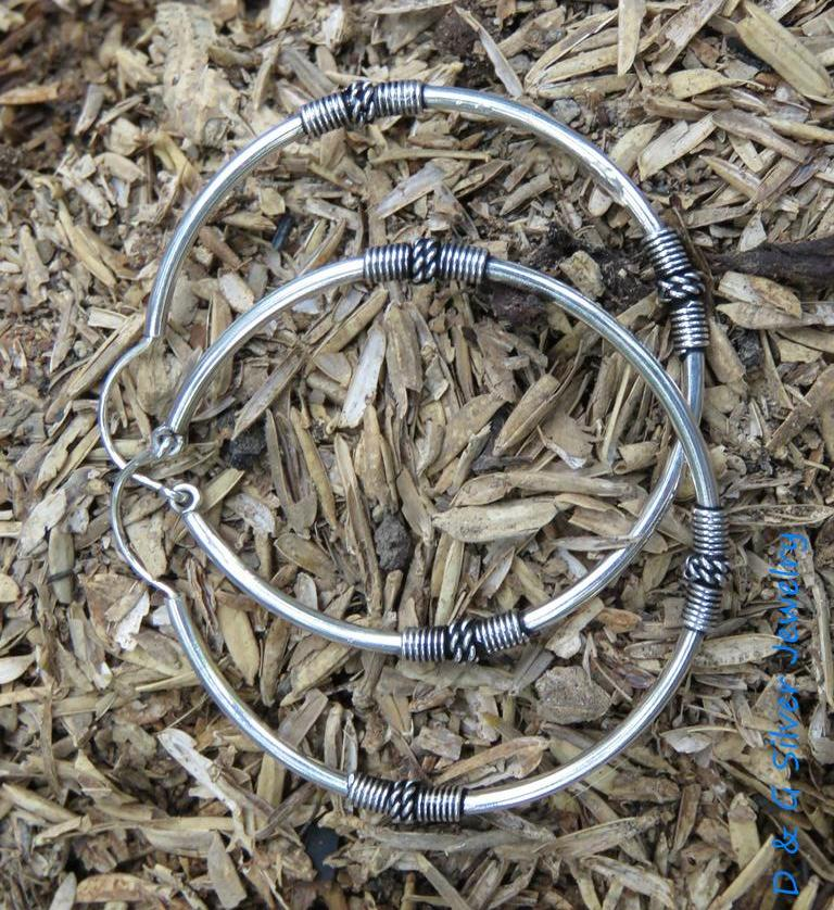 35MM 925 Silver Bali Hoop Earrings