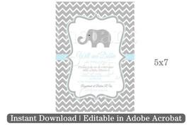 Elephant baby shower invitation | Boy baby shower invitation - $7.00