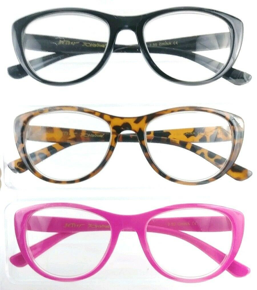 bfbf1c3a8698 S l1600. S l1600. Previous. +2.00 Designer Reading Glasses Pink Betsey  Johnson 3 Pair Multi Color Readers