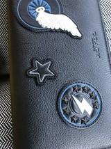 ~*Nwt Coach Varsity Applique Pebbled Leather Accordion Zip Wallet*Black - $98.73