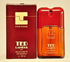 Ted Lapidus Pour Homme Eau de Toilette Edt 100ml 3.5 Fl. Oz. Spray Old 1978 - $350.00