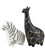 Kate Spade WOODLAND PARK Zebra & Giraffe Salt & Pepper Shaker Set New In... - $37.06 CAD