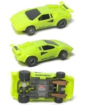 1994 TYCO 440-X2 Lamborghini Slot Car Fast & Handles Great Unused RARE NEON LIME - $27.71