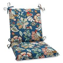 Pillow Perfect Outdoor Telfair Squared Corners Chair Cushion, Peacock - £29.97 GBP