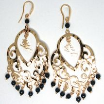 Drop Earrings Silver 925, Witch, le Favole, Agate Blue, Pink image 3