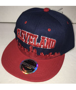 NEW Cleveland Hat Mens Adjustable Baseball Cap Snapback Skyline Red and ... - £7.86 GBP