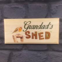Grandads Shed Sign, Robin Garden Plaque Workshop Allotment Dad Gramps Gift 360 - $12.02