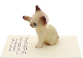 Hagen-Renaker Miniature Cat Figurine Siamese Kitten Paw Up Chocolate Point image 4