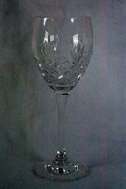Czechoslovikian Crystal Pineapple And Cross Hatch Smooth Stem Set Of 5 Wine Hock - $62.99