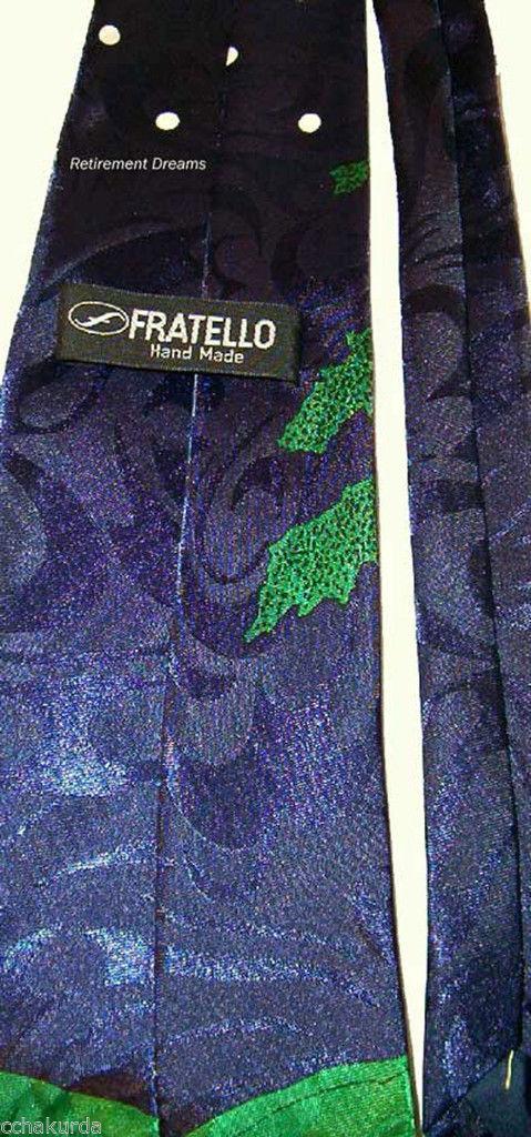 FRATELLO Men SILK Necktie Tie Angry Golfer Tree Club image 2