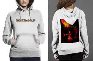 Bathory z hoodie  women white
