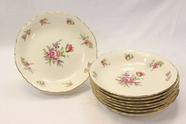 "Homer Laughlin Priscilla Scalloped Soup Bowls 8"" Set of 8 - $39.19"