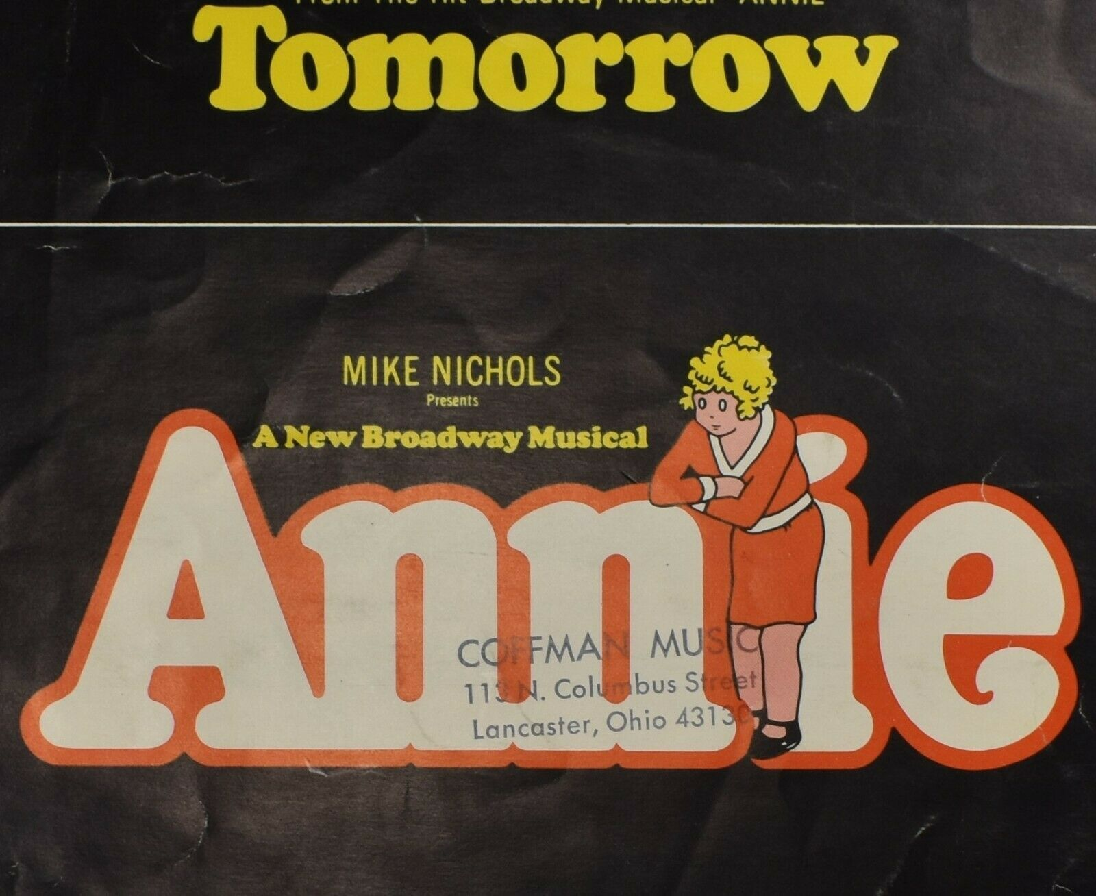 Primary image for Tomorrow from Broadway Musical Annie Piano & Lyrics Charnin Strouse 1977