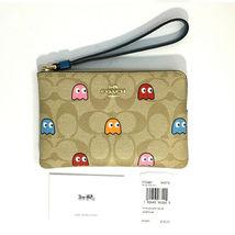 COACH PacMan Wristlet Bag Ghosts Corner Zip F72287 NWT image 3