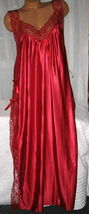 Red Wine Toga Style Lace Open Tie Look Side Long Nightgown 1X Plus Size - $22.75