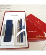 Sheaffer Imperial Sterling Silver and Fashion Blue Matte Navy Fountain Pen - $275.00