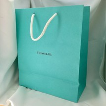 "Tiffany & Co Blue Shopping Bag Gift Bag 9.75"" X 8"" - $15.00"