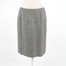 Black ivory linen blend CALVIN KLEIN pencil skirt 6 - $24.99