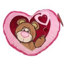 Keel Toys Love Me Bear Heart Cushion - $8.99