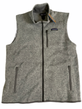NWT New Patagonia Men M Medium Better Sweater Vest Stonewash Grey Fleece image 1