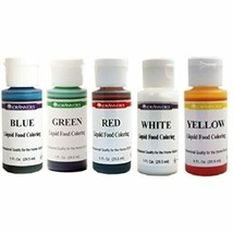 LorAnn Liquid Food Color - Primary Colors - Set of Five 1 ounce squeeze ... - $12.28