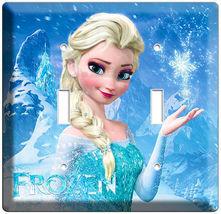 DISNEY FROZEN MAGIC ELSA DOUBLE LIGHT SWITCH PLATE CHILDREN'S GIRLS ROOM... - $10.79