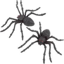 2 Count Fake Hard Plastic 5 Inch Black Creepy Spiders  - $7.91