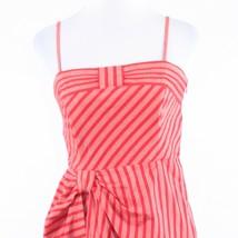 Pink red striped 100% cotton LIL spaghetti strap sun dress 8 - $44.99